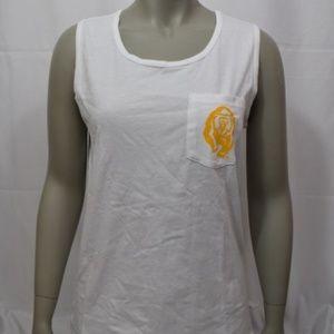 PINK Cal State Bears White Pocket Tank Top NWT